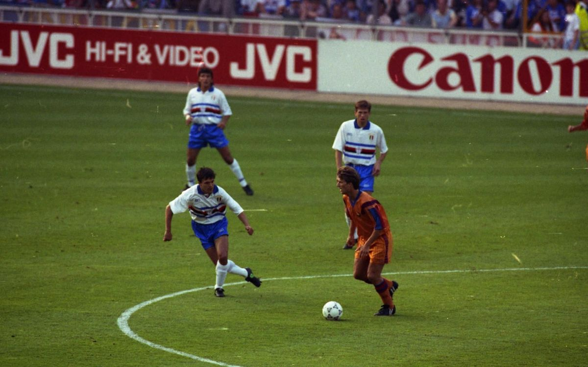 Michael Laudrup, during the Champions League final against Sampdoria