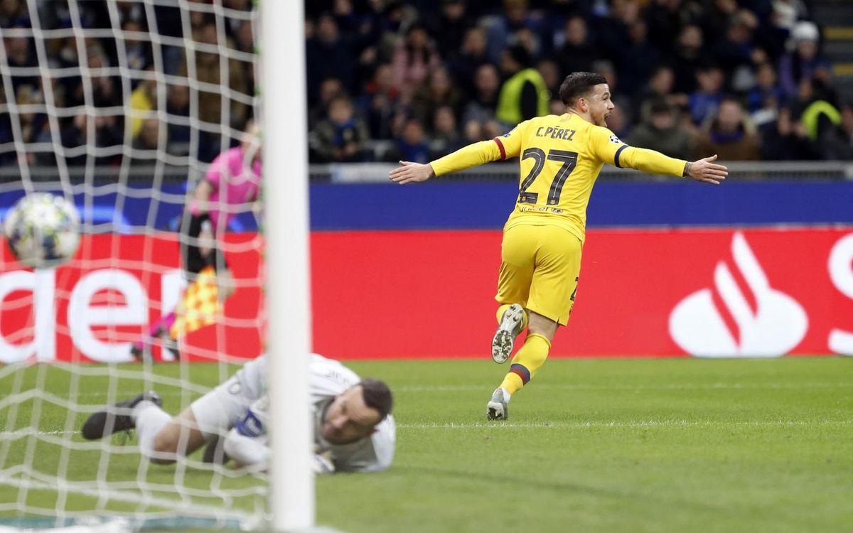 Carles Perez célèbre l'ouverture du score