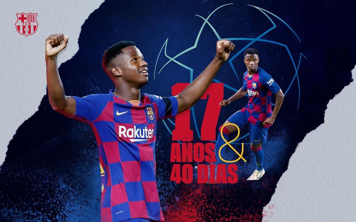 Ansu Fati, el goleador más joven de la historia de la Champions