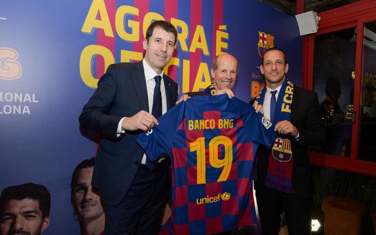 El Barça incorpora a Banco BMG como nuevo patrocinador en Brasil