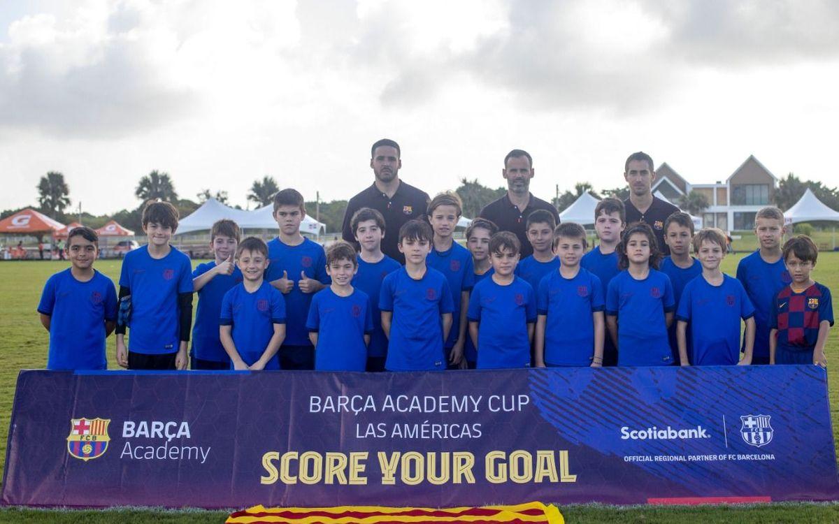 Música y color en la inauguración de una Barça Academy Cup Las Américas