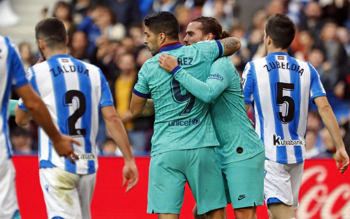 Real Sociedad 2-2 FC Barcelona: Points shared in San Sebastián