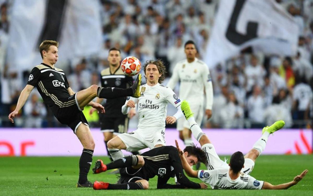 De Jong et Modric vont se retrouver en Ligue des Champions mercredi