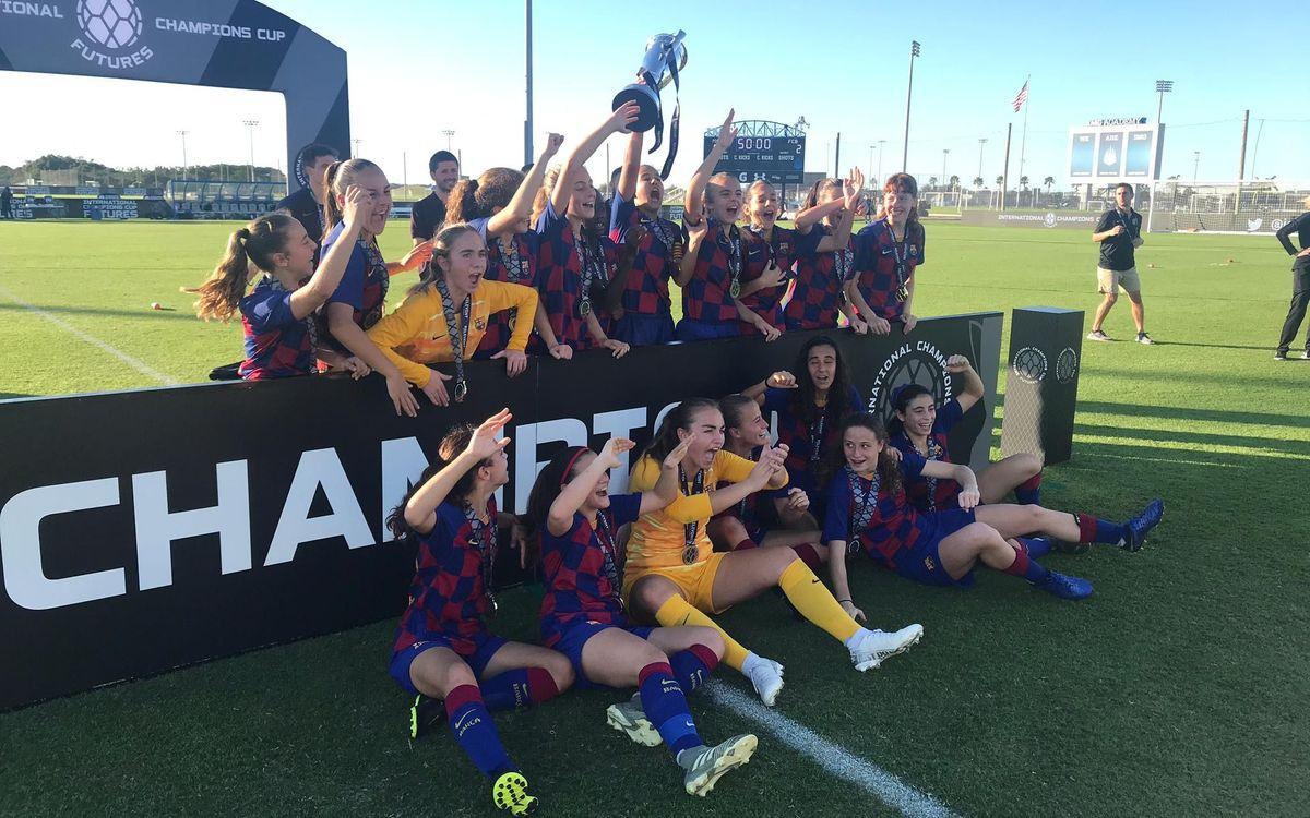 ¡El Barça U-14 gana el International Champions Cup en Florida!