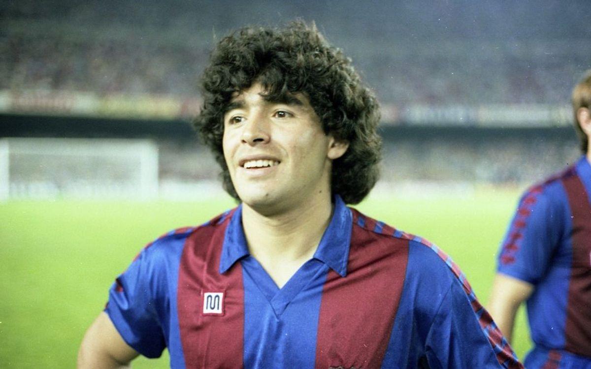 Maradona, el principal nexo entre Barça y Nápoles