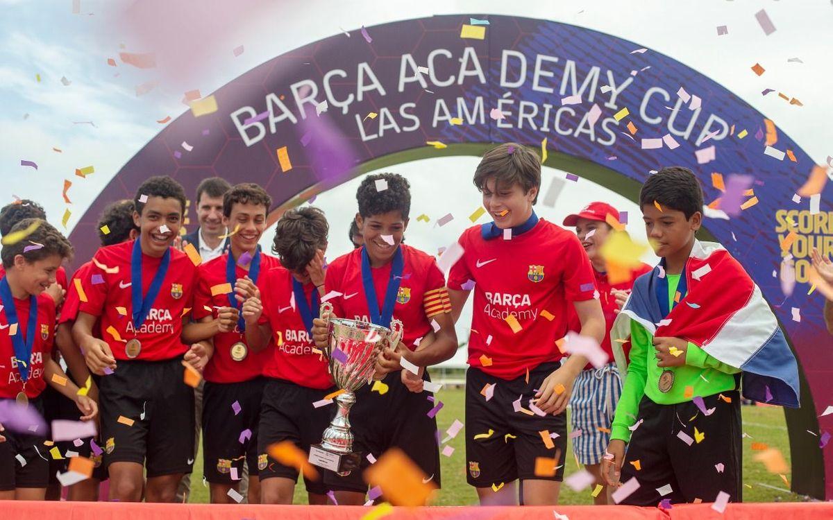 La Barça Academy Cup Les Amèriques més gran de la història finalitza amb un gran èxit organizatiu