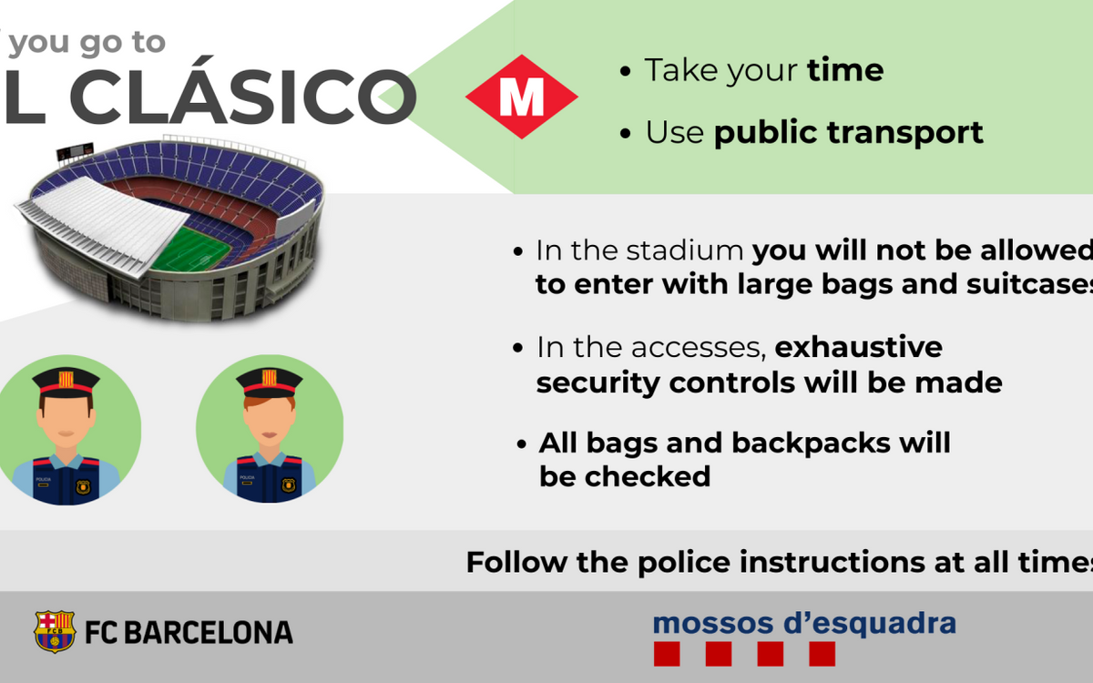 Tips and recommendations for attending El Clásico.