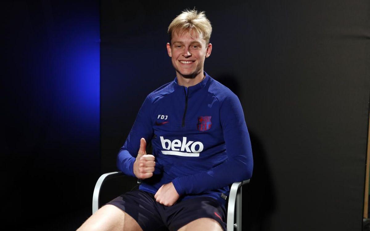"""De Jong: """"Estic molt emocionat per jugar el meu primer Clàssic"""""""