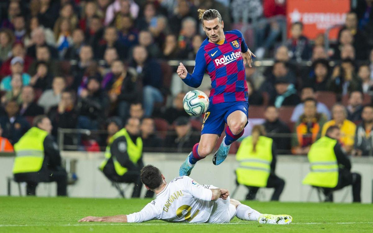 Antoine Griezmann est resté muet au match aller au Camp Nou