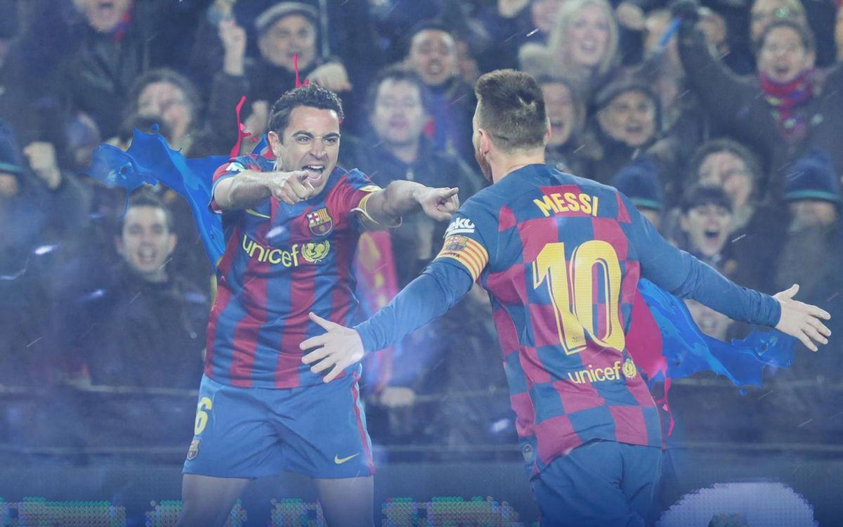 Messi iguala a Xavi en número de Clásicos