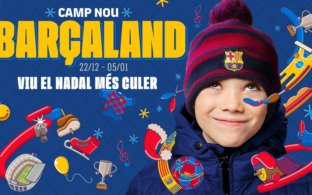 Barçaland converteix l'esplanada del Camp Nou en un parc de Nadal ple d'activitats per als més joves