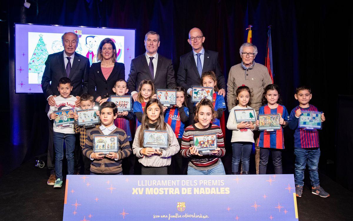Entrega de premios de la XV Mostra de Nadales Blaugrana