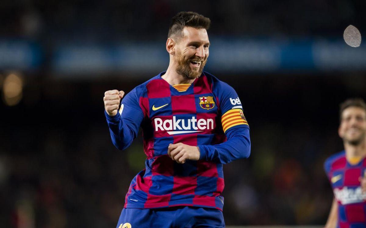 Messi celebrando un gol ante el Celta de Vigo
