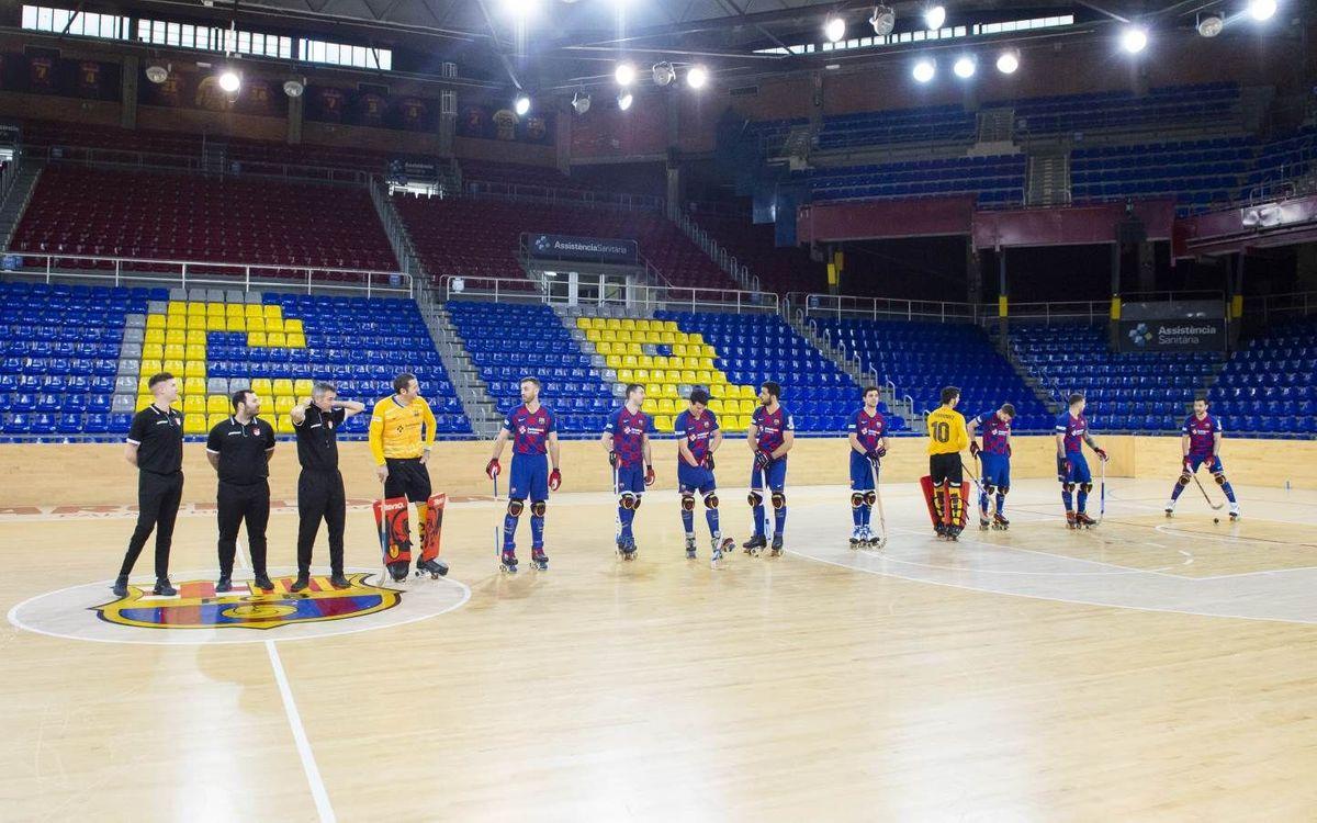 Els àrbitres tanquen l'acta del Barça – Deportivo Liceo