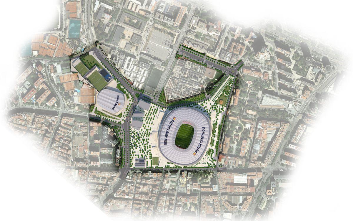 Aprovat el projecte d'urbanització dels carrers i zones verdes de l'entorn del Camp Nou inclòs en l'Espai Barça