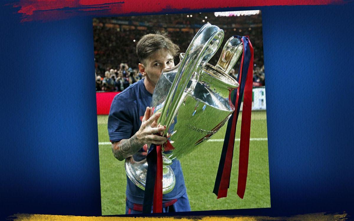 Leo Messi ganó su cuarta Champions League el 6 de junio de 2015