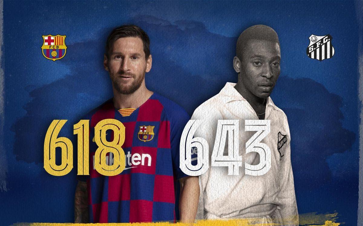 Leo Messi n'est plus qu'à 25 buts d'égaler Pelé au nombre de buts avec un seul club