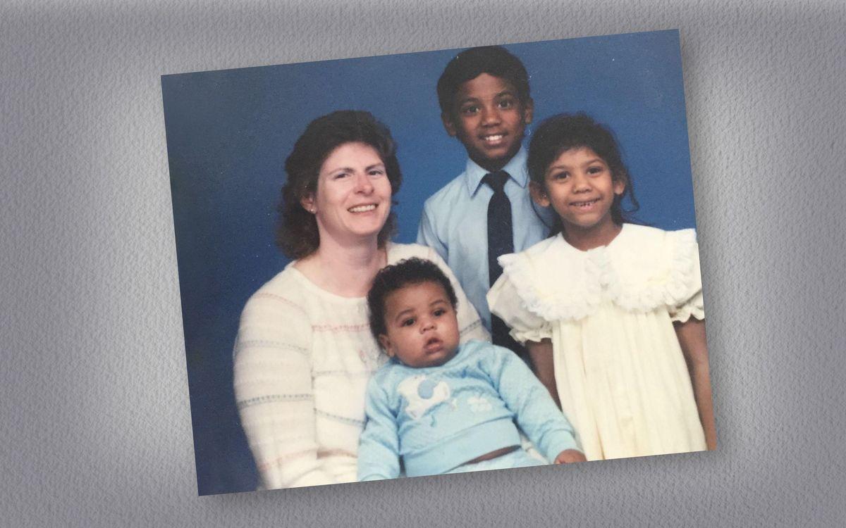 Linda Kathleen, with Brandon Davies and his brother and sister