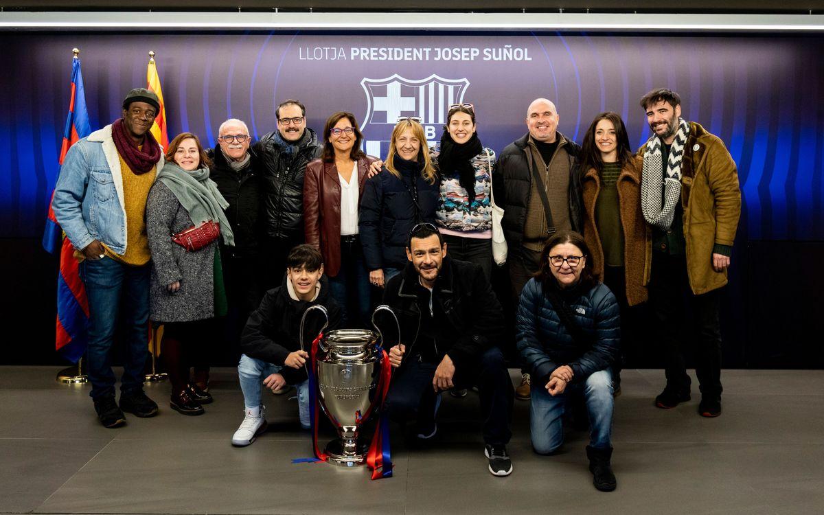 La actriz Blanca Portillo visita el estadio y el Museu del Barça