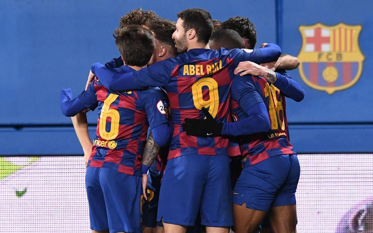Barça B - Espanyol B: El derbi es tenyeix de blaugrana (2-0)
