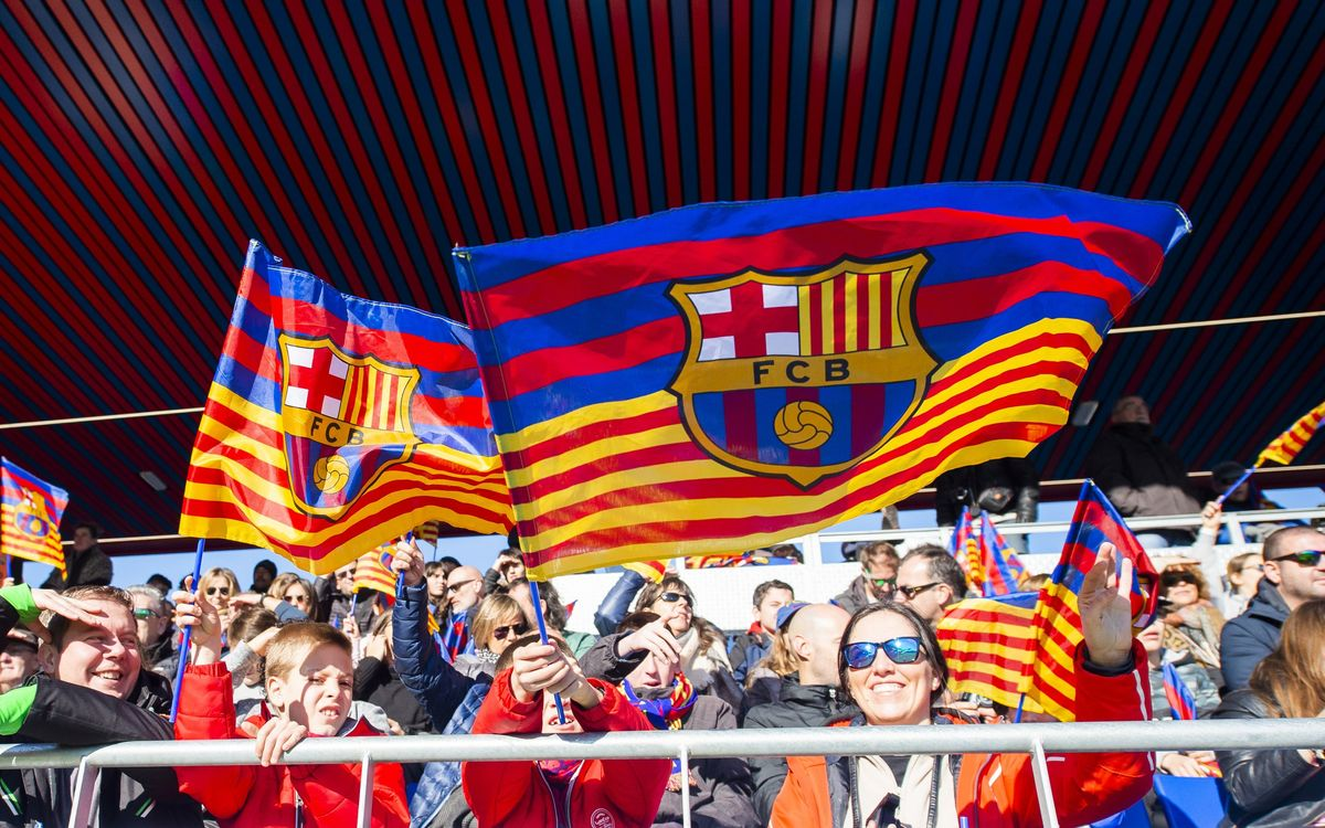 All smiles at the Estadi Johan Cruyff