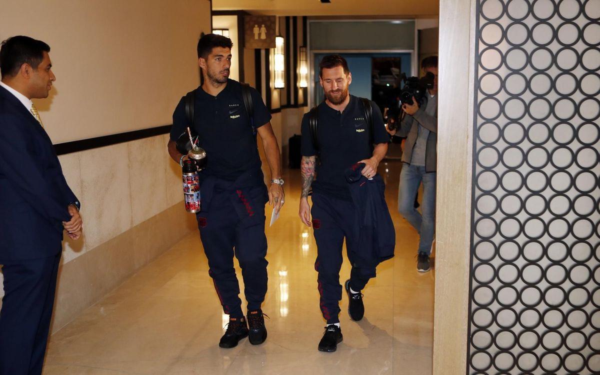 Barça arrive in Saudi Arabia
