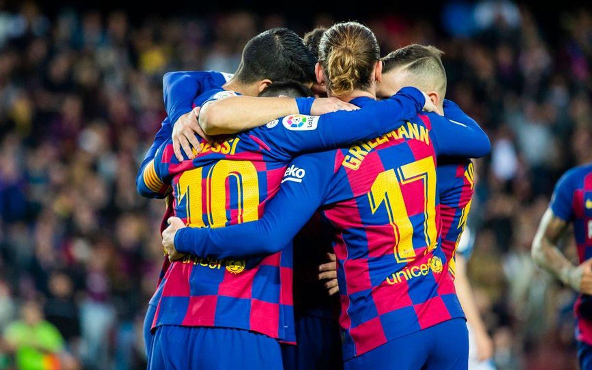 El Camp Nou, un fortí en el primer partit de l'any