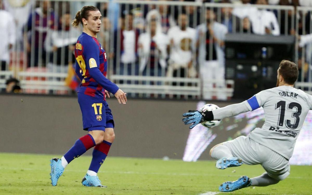 Griezmann, en el duelo ante el Atlético