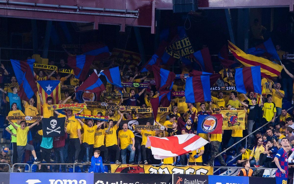 Vive la Copa de Málaga con la afición del Barça