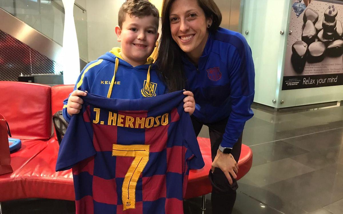 Jenni Hermoso hace realidad el sueño de Iker