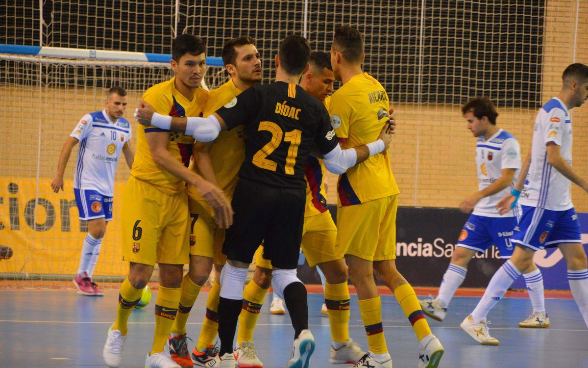 Fútbol Emotion Saragossa –Barça: S'imposen en un festival golejador (6-7)