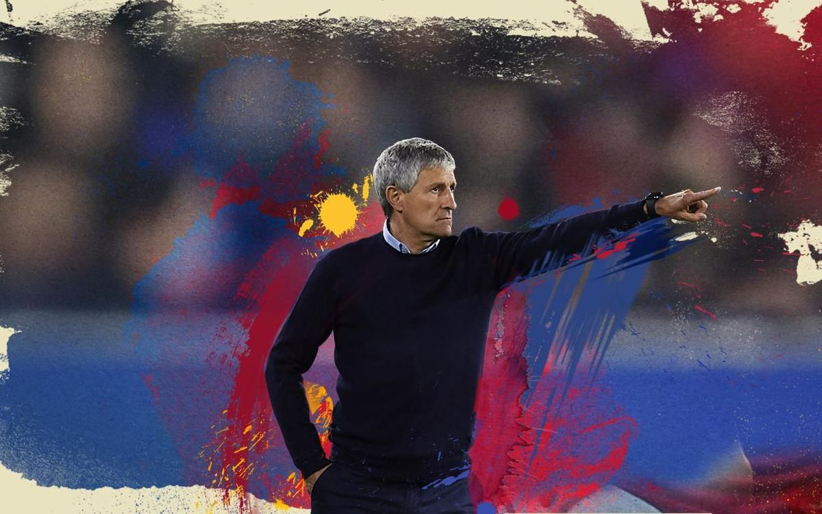 Quique Setién is the new coach of FC Barcelona