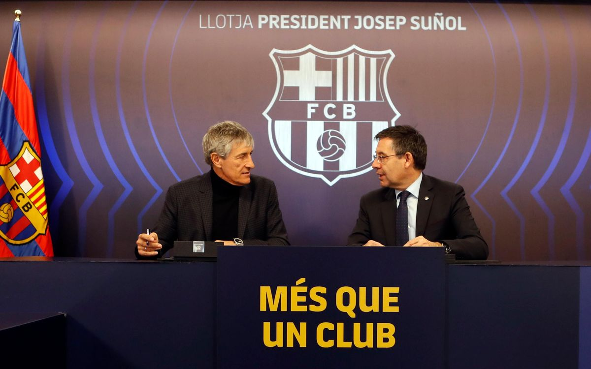 Bartomeu and Setién