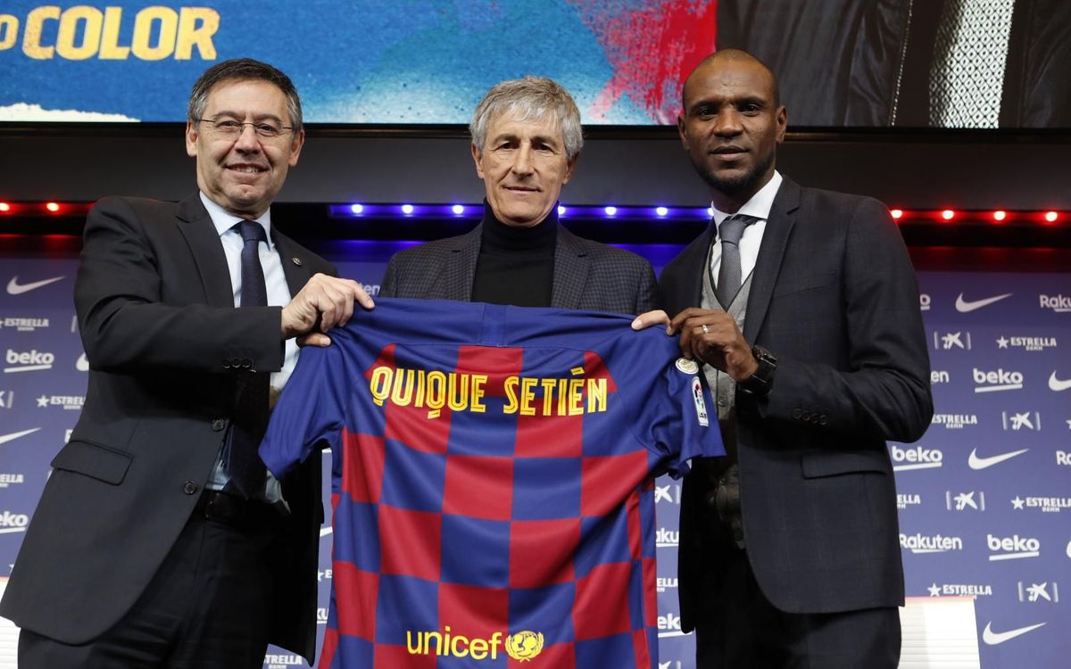 Quique Setién, Bartomeu and Abidal