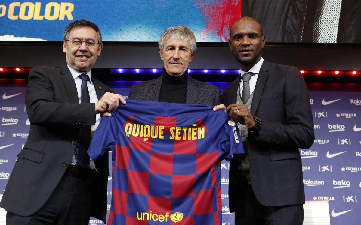 Quique Setién, Bartomeu and Abidal