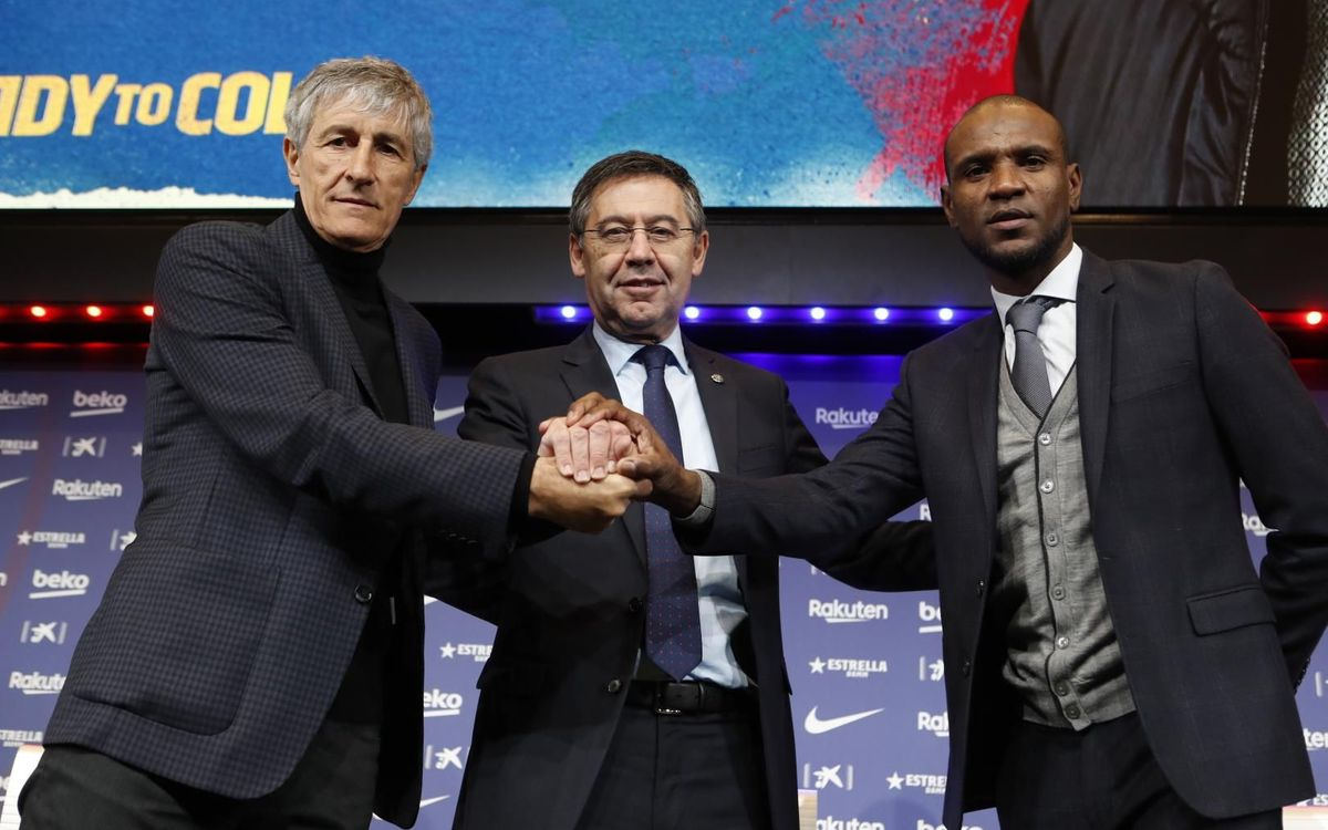 Quique Setién's presentation as the new coach of FC Barcelona, as it happened