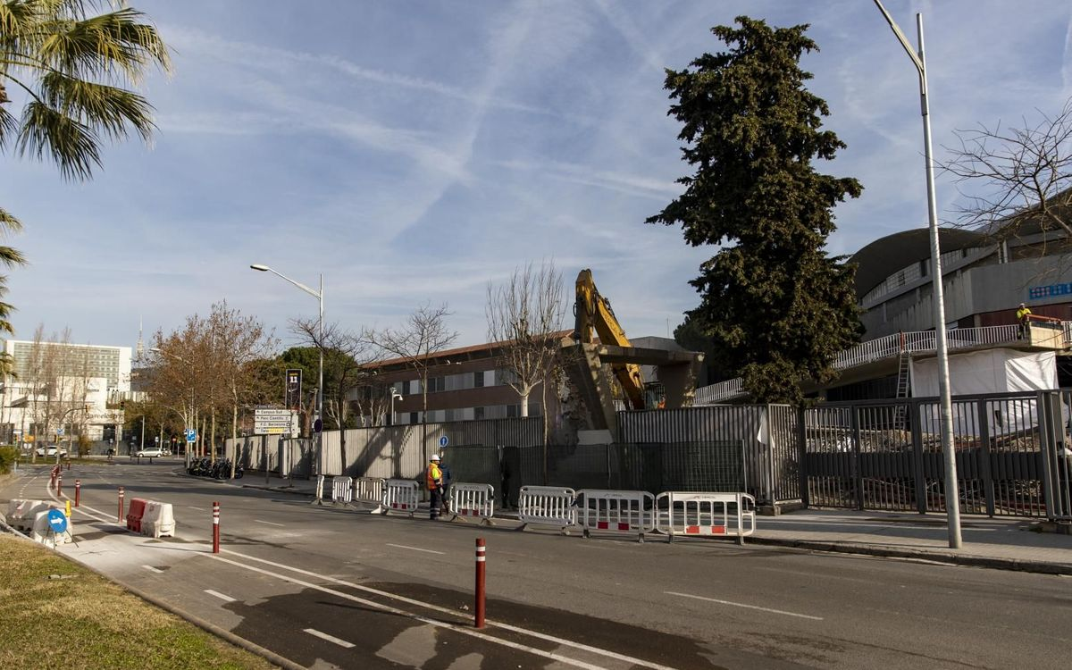 Completat el procés d'enderrocament de la passarel·la