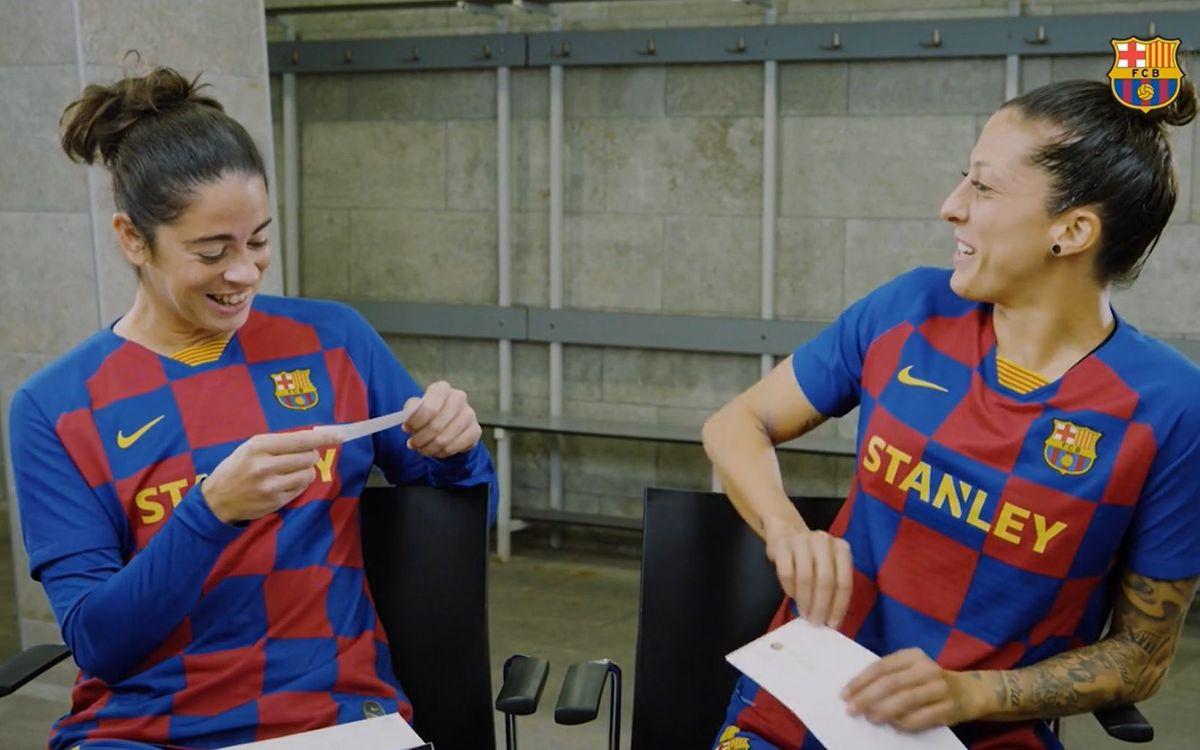 Marta Torrejón y Jenni Hermoso se retan en el 7 Seconds Challenge