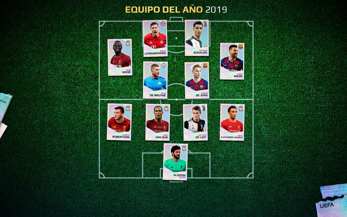 El equipo del año del 2019 de la UEFA
