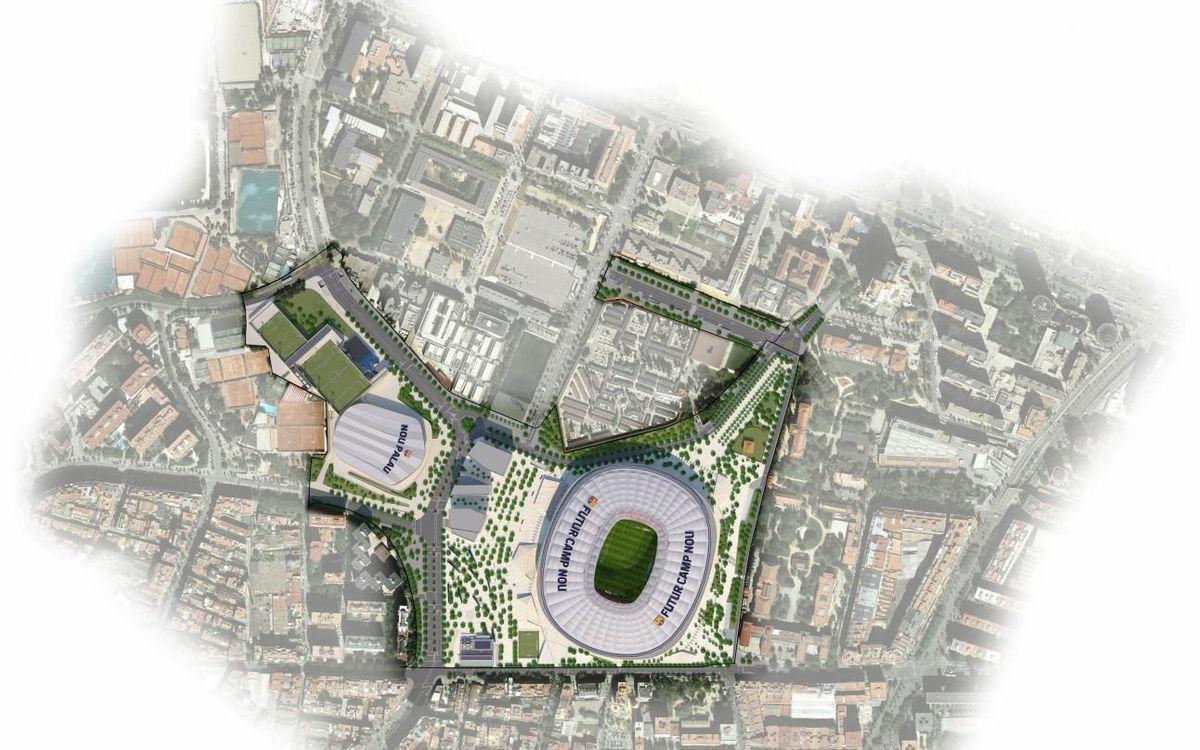 La Comisión de Gobierno del Ayuntamiento aprueba el proyecto de reparcelación del entorno del Camp Nou incluido en el Espai Barça
