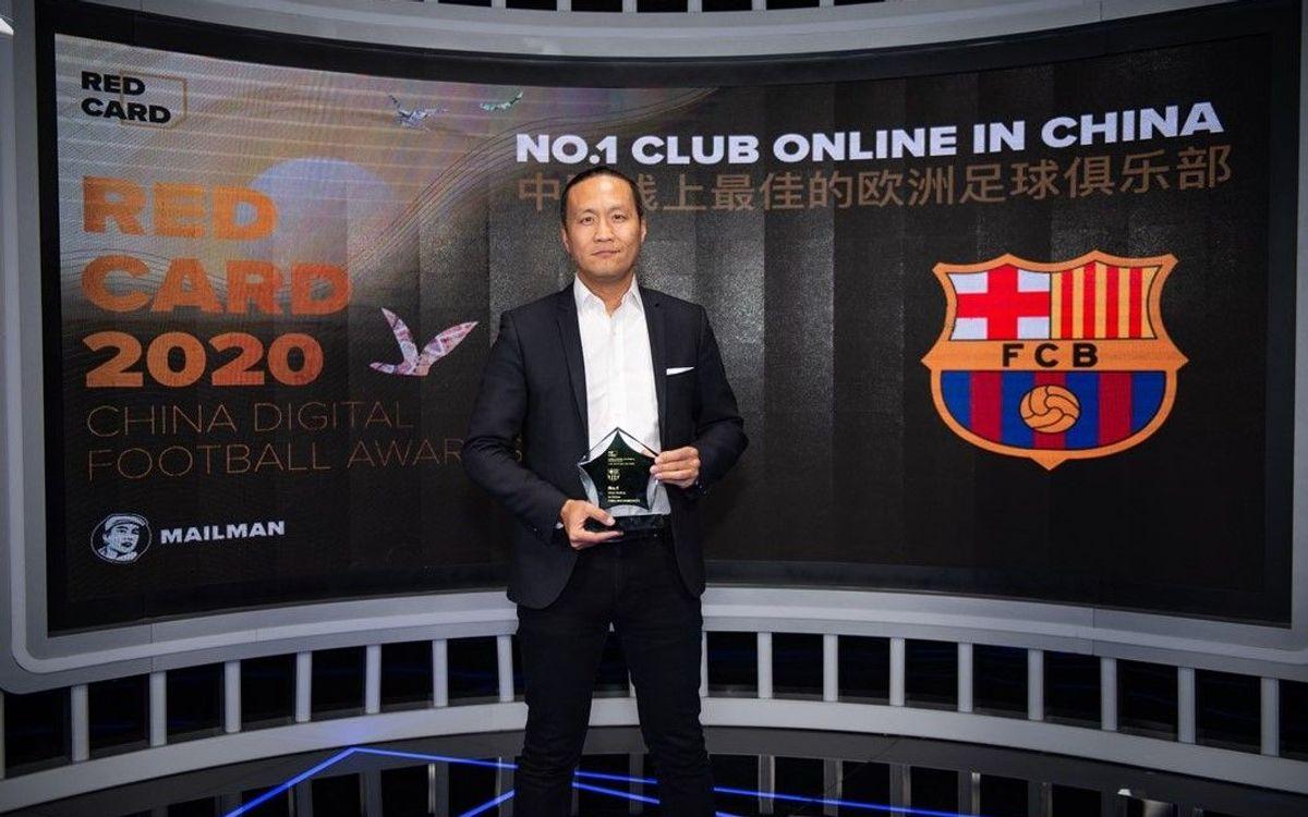 El Barça és reconegut com el millor club de futbol 'online' a la Xina amb el premi Red Card 2020