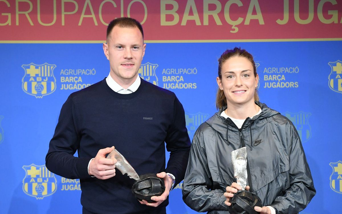 Ter Stegen and Alexia Putellas receive the Barça Players Award