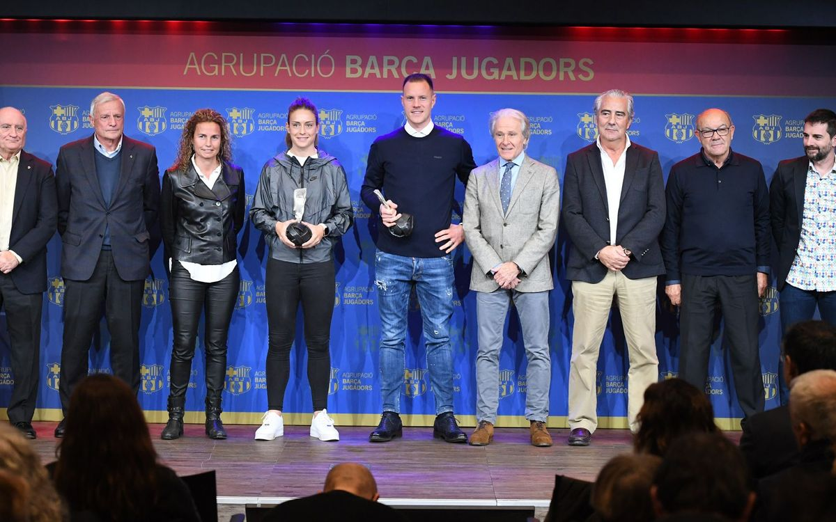 Ter Stegen is the first goalkeeper who receives the Barça Players Award. Sergio Ruiz/ABJ.