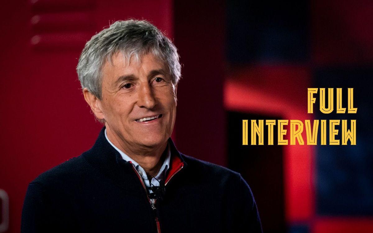 La première interview de Quique Setién pour Barça TV