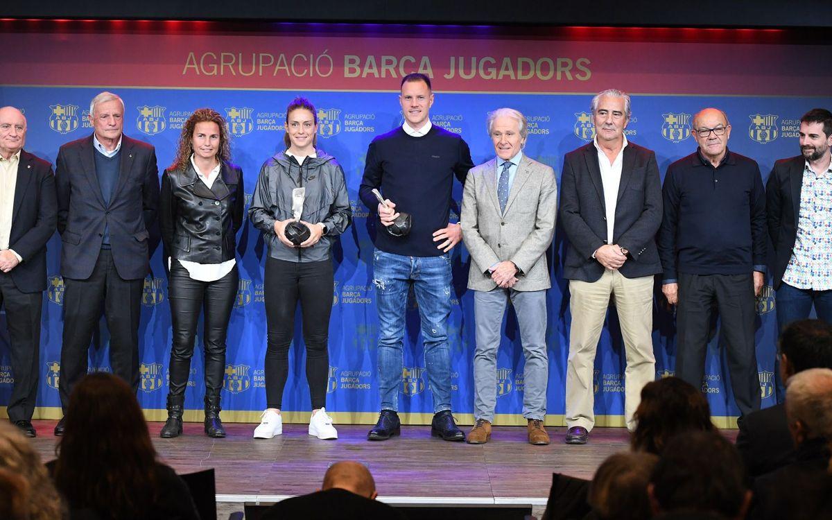 Ter Stegen, primer porter en rebre el premi de l'ABJ. Sergio Ruiz/ABJ