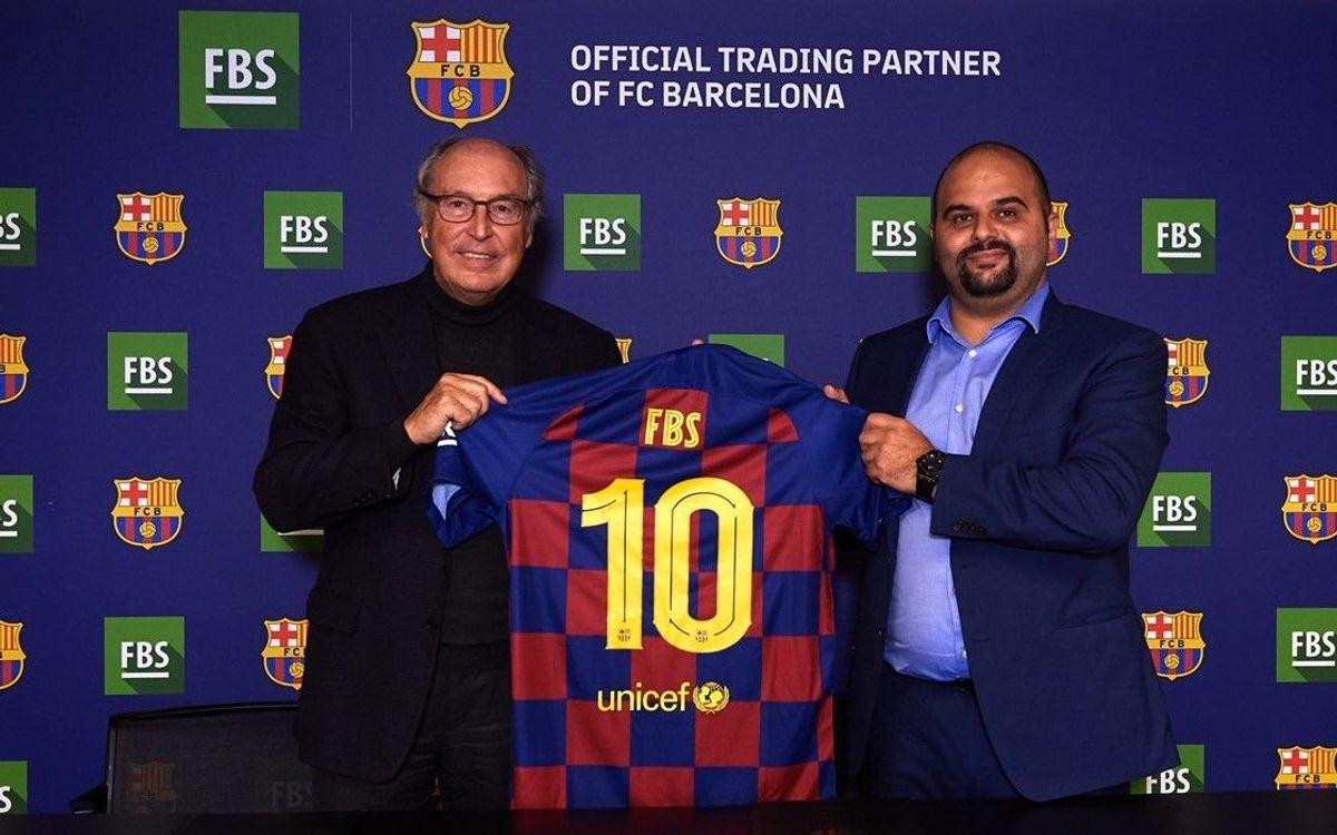 El FC Barcelona i FBS signen un nou acord de patrocini global