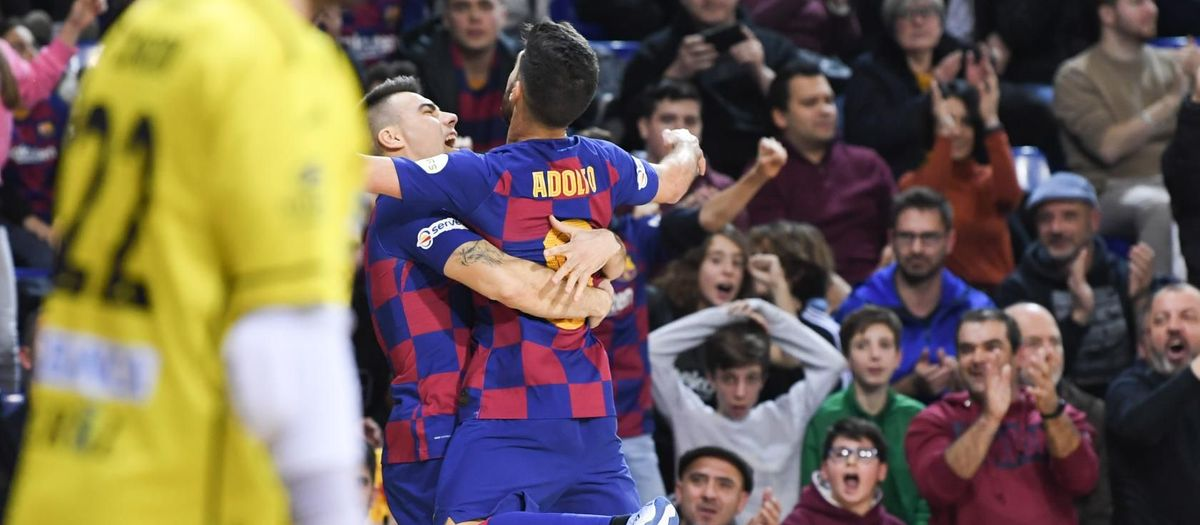 Barça 6-5 O Parrulo: Four goals from Adolfo