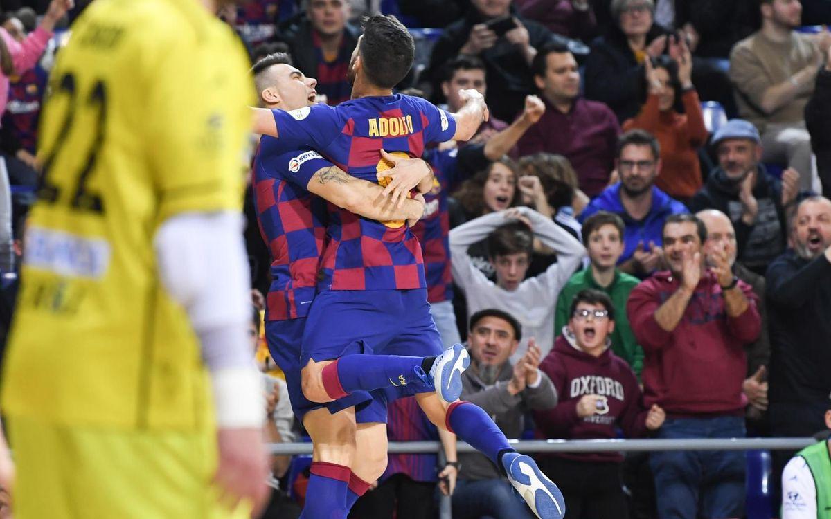 Barça 6-5 O Parrulo: Four goals from Adolfo