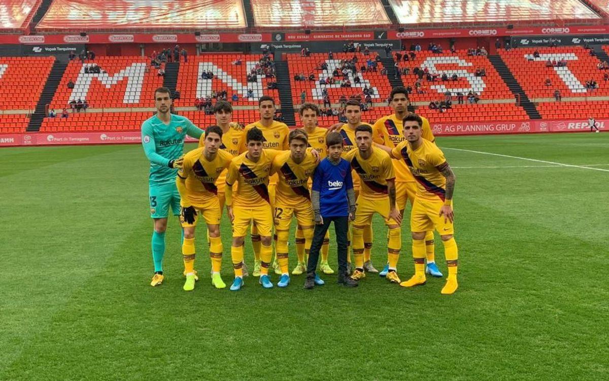 Nàstic de Tarragona - Barça B: No ha podido ser (1-0)