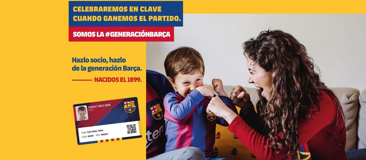 Alta de socio gratuita para incorporarse a la nueva generación Barça